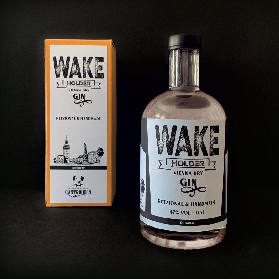 Wakeholder Vienna Dry Gin Flasche & Verpackung